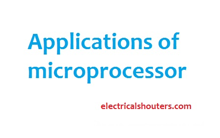 application of microprocessor